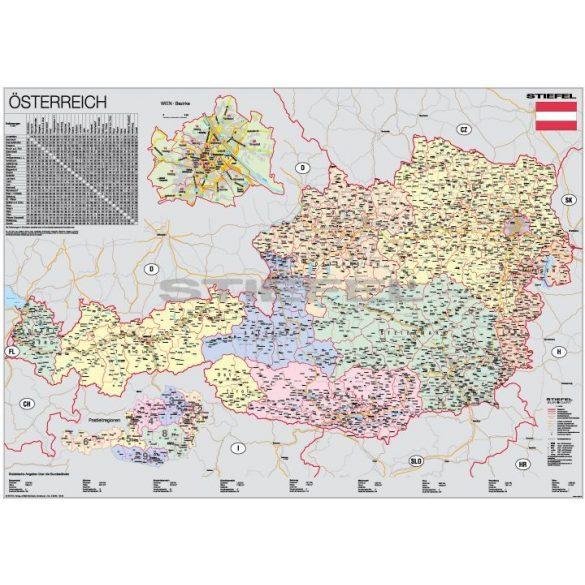Ausztria, domborzati + politikai DUO (német)