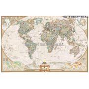 Föld antik színezésű térképe fémléces
