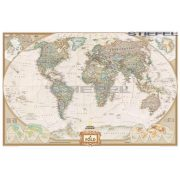 Föld antik színezésű térképe keretezett