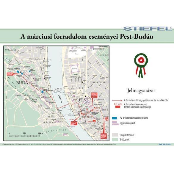 A márciusi forradalom eseményei Pest-Budán.