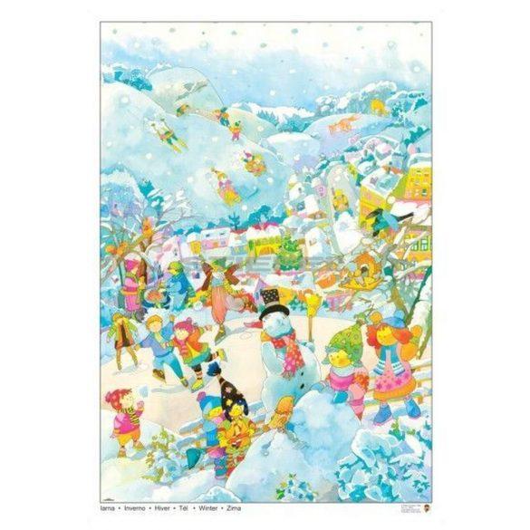 Tél tabló (fóliás-fémléces)