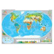 A Föld éghajlata és növényzete kétoldalas óriás fali térképposzter