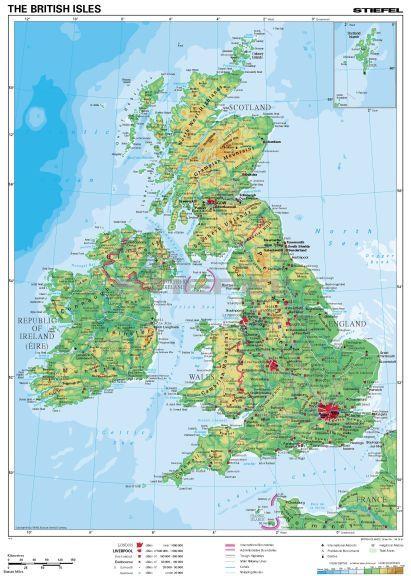 nagy britannia domborzati térkép Nagy Britannia domborzata nagy britannia domborzati térkép