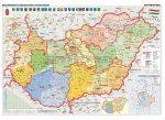Magyarország közigazgatása és közlekedése DUO + 4 db tematikus térkép