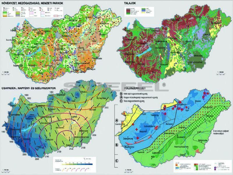 tematikus térkép Magyarország közigazgatása és közlekedése DUO tematikus térkép