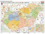 Magyarország közigazgatása iskolai falitérkép, DUÓ - hátoldalon közigazgatási vaktérképpel +10 db ajándék tanulói munkalap