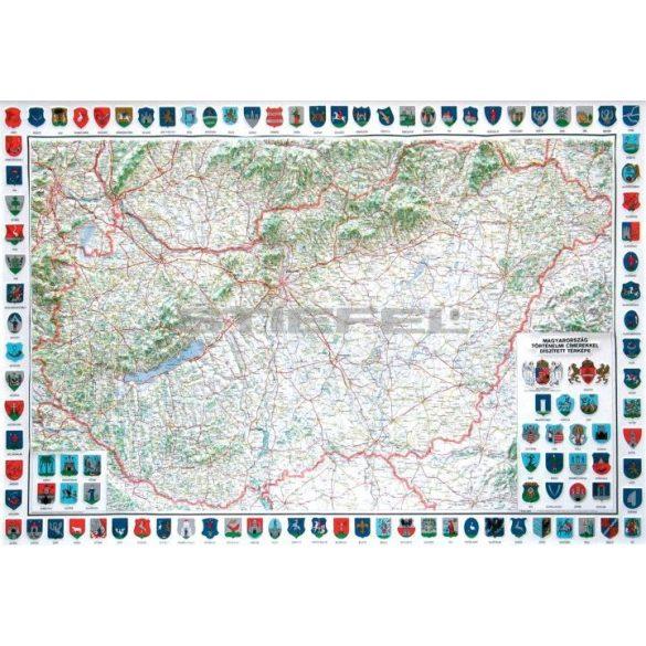 Magyarország domborított térképe