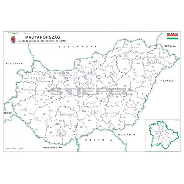 Magyarország választási színező fémléces 2018 100x70 cm