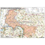 Magyarországi megyék választási térképe egyéni választókerületekként fémléces 100x70 cm
