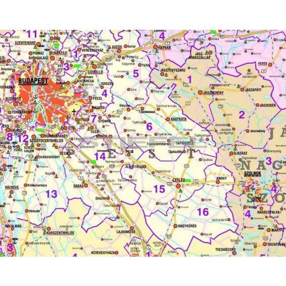 Magyarország országgyűlési választókerületei (2010), hajtott