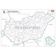 Magyarország választási színező fémléces 2018 140x100 cm