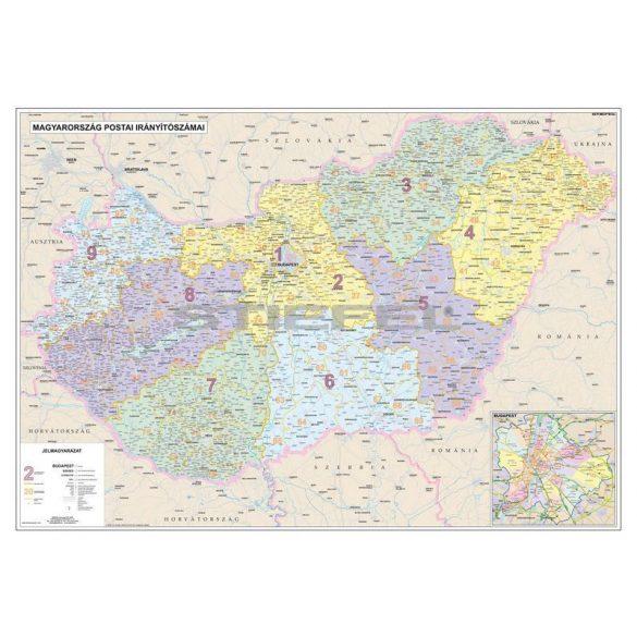 Magyarország postai irányítószámai, tűzhető, keretes