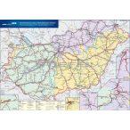 Magyarország vasúti árufuvarozási térképe írható, tűzhető, keretes