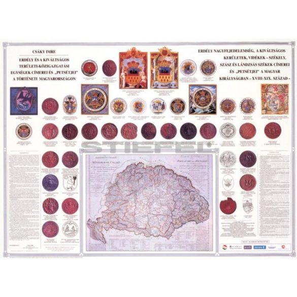 Erdély és a kiváltságos területek címerei és pecsétjei, fóliázott-lécezett