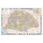 A Magyar Szent Korona országai térképe jelenleg Mo. határral faléces