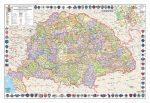 A Magyar Szent Korona országai térképe jelenleg Mo. határral fémléces