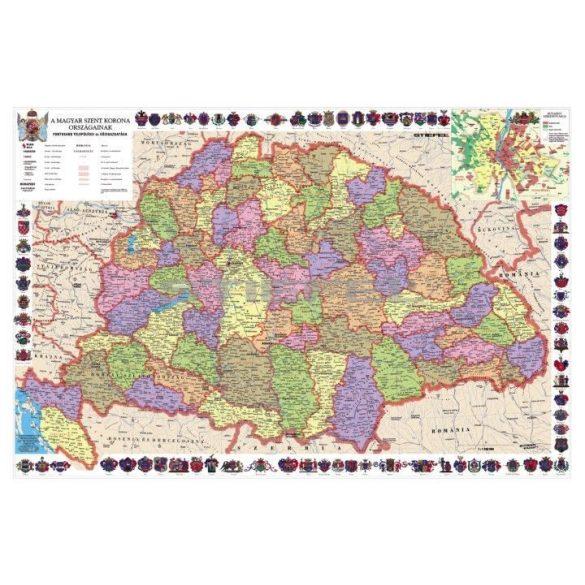 A Magyar Szent Korona országai térképe, fémléces