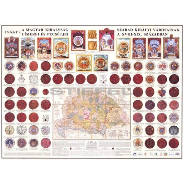 A Magyar Királyság szabad királyi városainak címerei és pecsétje, fóliázott-faléces