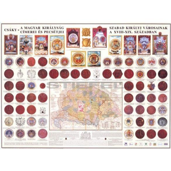 A Magyar Királyság szabad királyi városainak címerei és pecsétje, fémléces