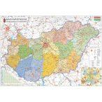 Magyarország közigazgatása modern járásszínezéssel, fóliázott-lécezett