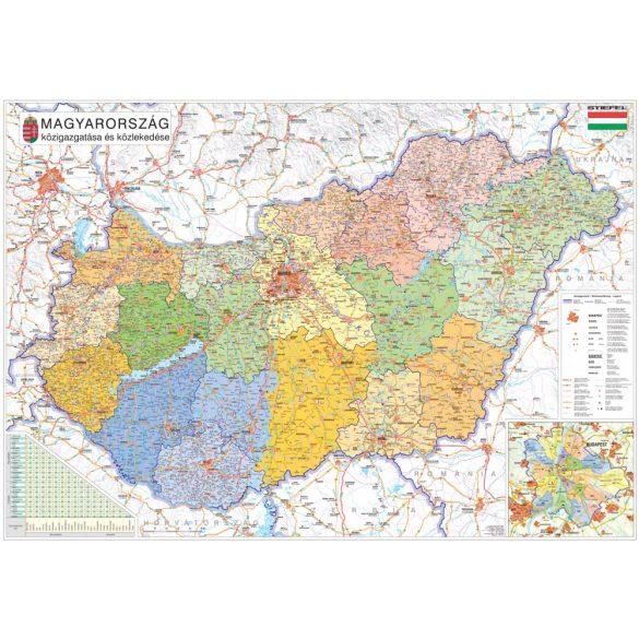Magyarország közigazgatása a járásokkal XXL óriás térképposzter