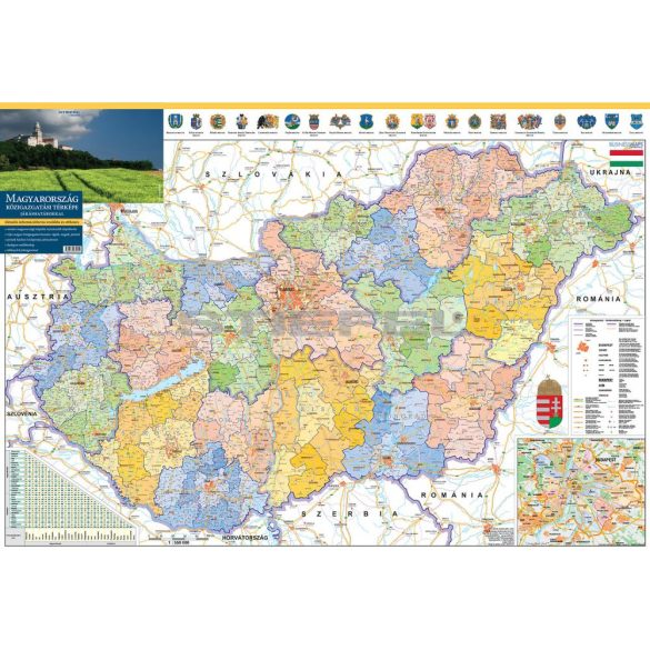 Magyarország közigazgatása a járásokkal hajtogatott térkép