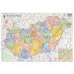 Magyarország közigazgatása térkép eltérő járás színezéssel