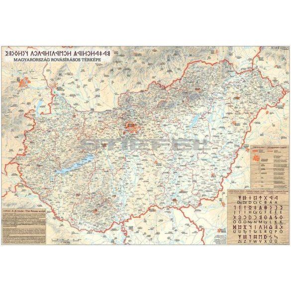 Magyarország rovásírás térképe