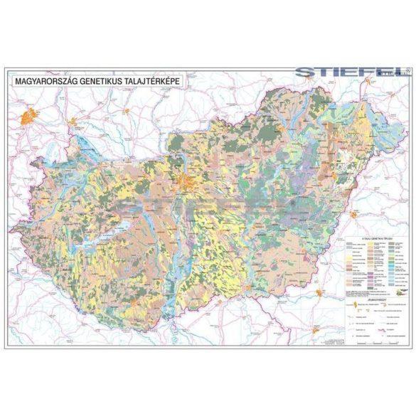 Magyarország talajtani térképe  fémléces