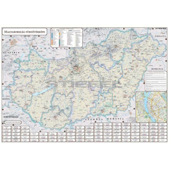 Magyarország Fürdőtérképe fémléces