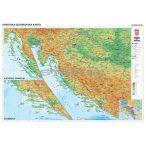 Horvátország domborzata + vaktérkép DUO (horvát nyelvű)