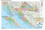 Horvátország politikai + vaktérkép DUO (horvát nyelvű)