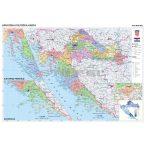 Horvátország közigazgatása térkép, tűzhető, keretes