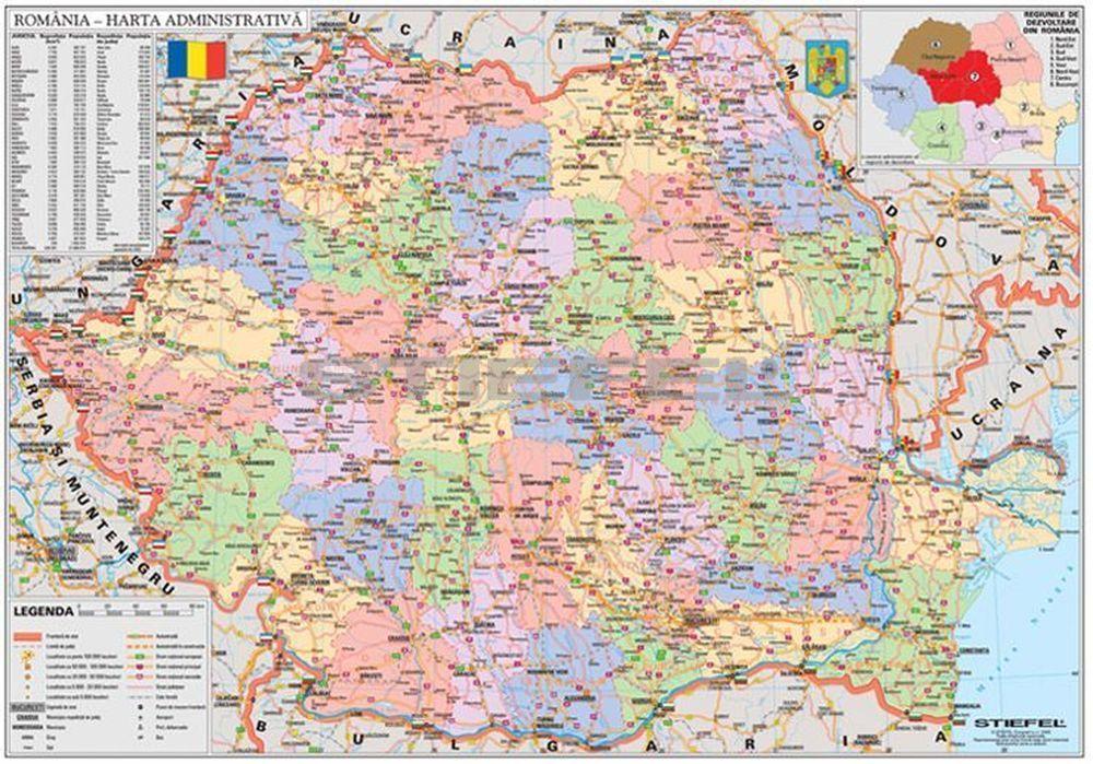 románia térkép Románia politikai térképe (román nyelvû)