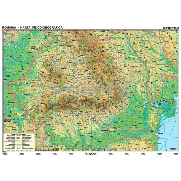 Románia domborzat (román nyelvű)