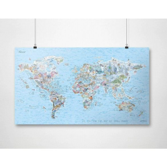 Búvár térkép fémléces