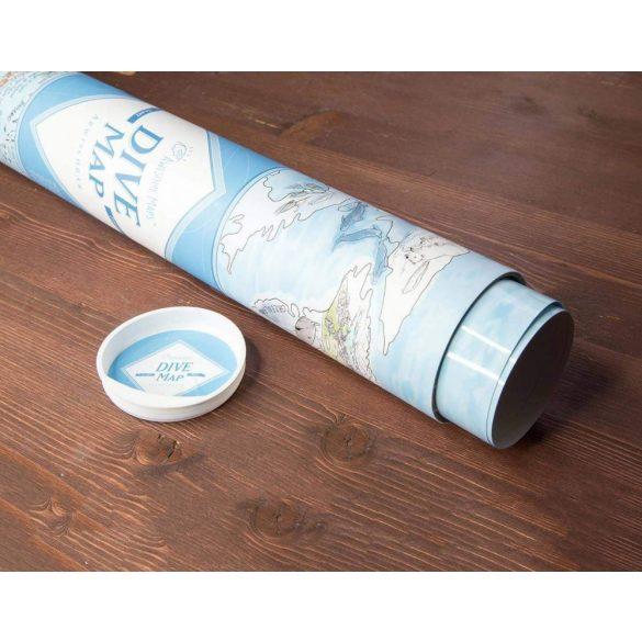Búvár térkép poszter, egyoldalon fóliázott kivitelben