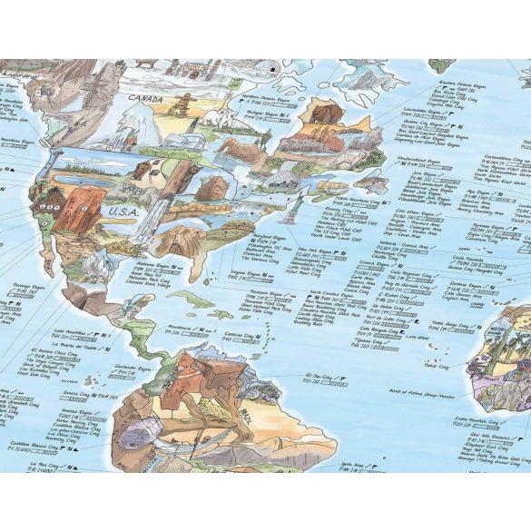 Hegymászó térkép fémléces