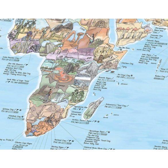 Hegymászó térkép keretezett kivitelben