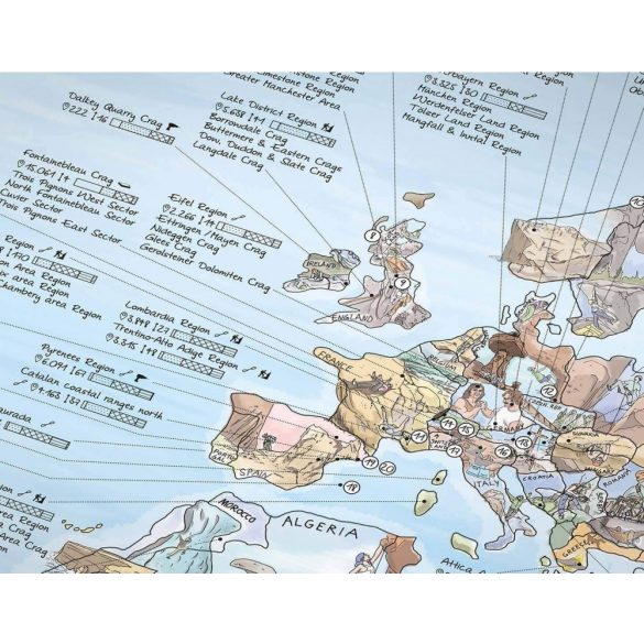 Hegymászó térkép poszter egyoldalon fóliázott kivitelben