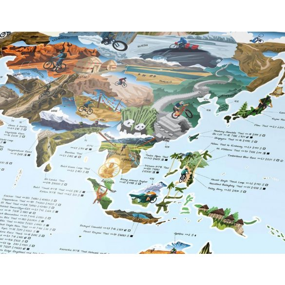 Mountain Bike térkép fémléces