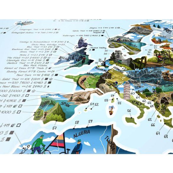 Mountain Bike térkép keretezett kivitelben