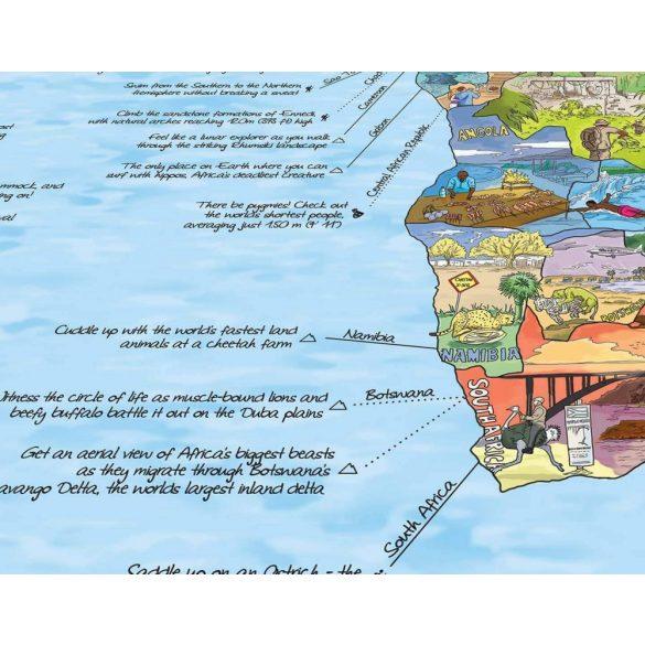 Bakancslista térkép fémléces