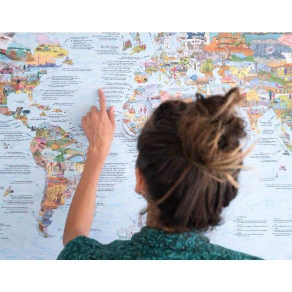 Bakancslista térkép poszter egyoldalon fóliázott kivitelben