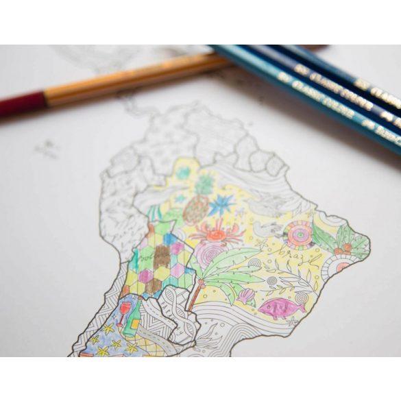 Föld színező térképe