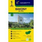 Bakony-dél/Somló turistatérkép