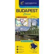 Budapest térkép-Classic hajtogatott térkép