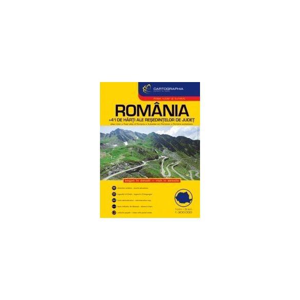 Románia autóatlasz 1:300e.