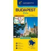 Budapest kemény 1:30e. térkép