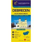 Debrecen várostérkép (+Hajdú-Bihar megye tkp.)